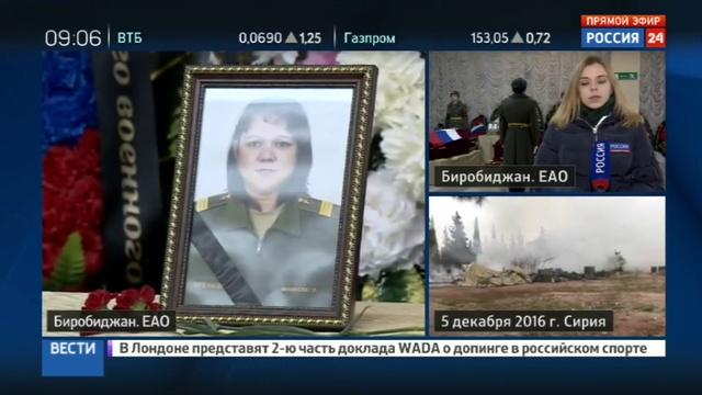 Новости на Россия 24 • В Биробиджане прощаются с погибшими в Алеппо медсестрами