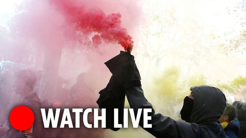 LIVE Protests erupt in Barcelona as Catalans demand independence
