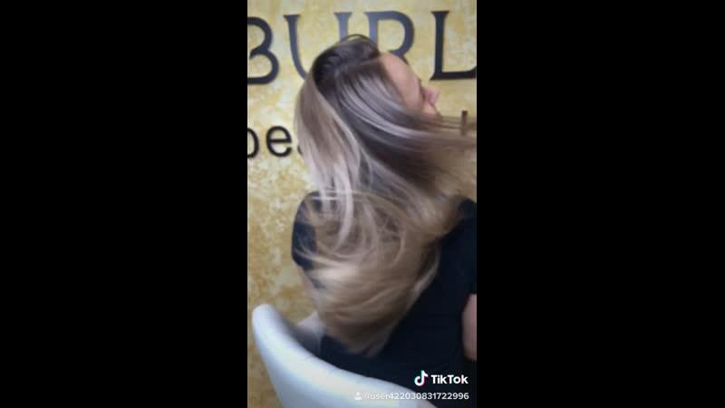 Темный блонд растяжка блонд
