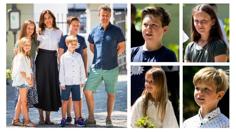 THEY GROW UP SO FAST Mary Frederik and Children Summer Photos 2018
