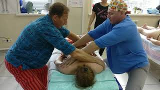 Небольшая часть видео с обучения Багуа массажу тела с Александром Ермолаевым