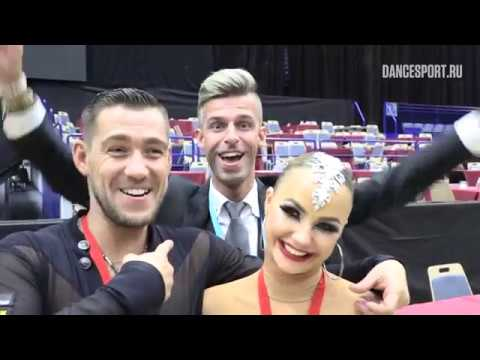 Timur Imametdinov Nina Bezzubova GER and DJ Maksy interview WDSF World Championship Latin
