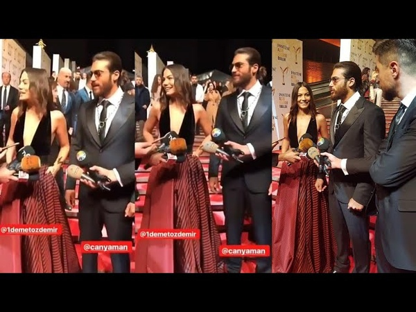 Can Yaman Demet Ozdemir looks so perfect together at Pantene Golden butterfly award (Erkenci kus)