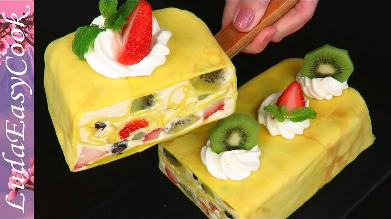 Удиви всех! Сказочный БЛИННЫЙ муссовый торт СОЛНЕЧНАЯ МАСЛЕНИЦА Люда Изи Кук Позитивная Кухня