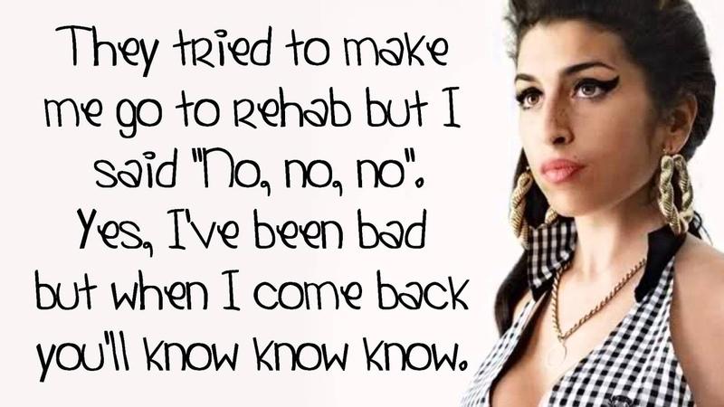 Amy Winehouse - Rehab - Lyrics On Screen (HD)