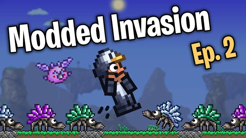 30x SPAWN RATE Terraria Mass Modded Invasion - Episode 2