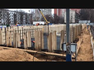 Стартовая площадка, строительство дома ул. Шумилова  д.16, к.2 (Кузьминки кв-л 116, к.2) по программе Реновация.