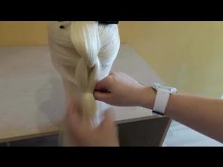 Французская коса в обратном положении🌺Легкий способ самой себе сделать косу.Кос