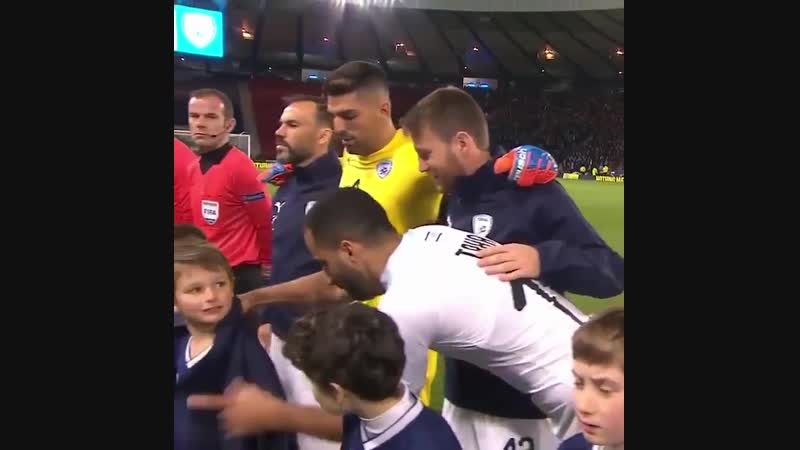 On a chilly night in Glasgow, Israel players made sure the mascots were warm.