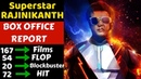 Rajinikanth Career Box Office Collection Analysis Hit, Blockbuster and Flop all Movies List