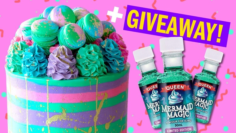 How To Bake And Decorate A Sea Kween MERMAID Cake GIVEAWAY! - The Scran Line