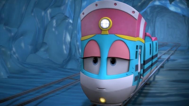 Роботы Поезда Виктор в опасности и Один за всех и все за одного 1 сезон Мультфильмы для детей