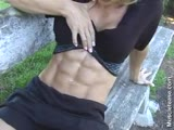 Juliana Malacarne-flex abs legs and abs