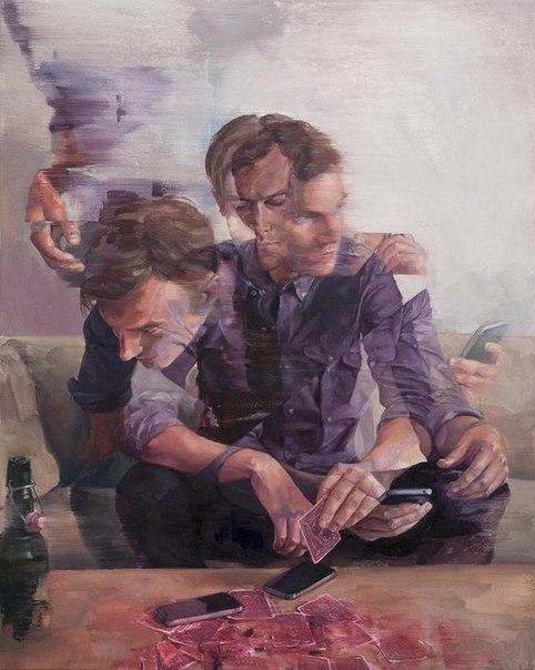 внутренняя борьба художник-психолог: внутренняя борьба на портретах от адама лаптона