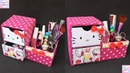 DIY Desk Organizer/ DIY Makeup Organizer/ Cajas organizadoras de Hello kitty/Hello kitty organizer