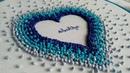 Hand Embroidery French knot heart Bordado a mano Corazón con nudo francés Artesd'Olga