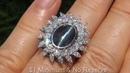 Color Change Alexandrite Cat's Eye Diamond Ring