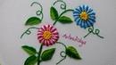 Hand Embroidery:Long tailed daisy stitch Flowers   Bordados:Flores en Puntada Margarita (Variación)