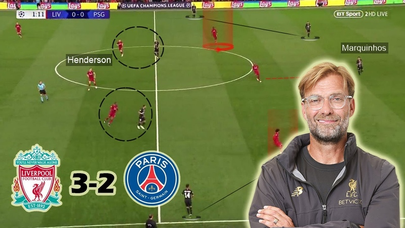 Klopps Excellent Pressing Game Against PSG   Liverpool vs PSG 3-2   Tactical Analysis