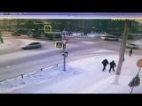 Момент ДТП на перекрестке Ленина-Гагарина в Чебоксарах. 23 января 2019
