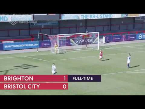 Brighton 0 – 1 Bristol City - Match highlights - FA WSL (10th September 2018)