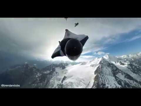 Surfing the Mountain POV Wingsuit Terrain Flying