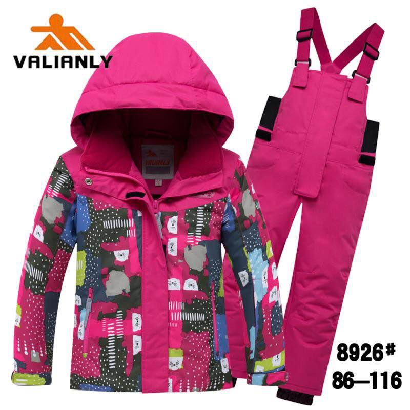 Зимний комплект Valianly 8926 розовый
