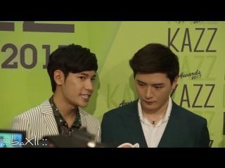 170522 Singto_u0026Krist - Kazz Awards (ให้สัมภาษณ์สื่อ) @ Central World