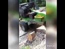 Дробим пень 1.5 метра за 30 минут - Железный дровосек