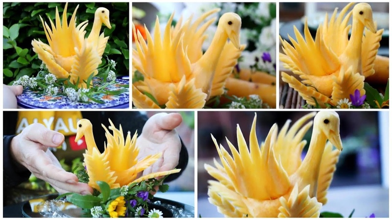 How to Make Carrot Duck Decoration   Super Salad Decoration Ideas
