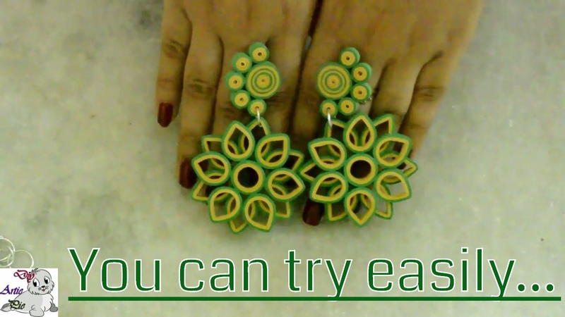 How to make a Simple Beautiful Quilling Earring with | Paper Quilling Design | Quilling Paper