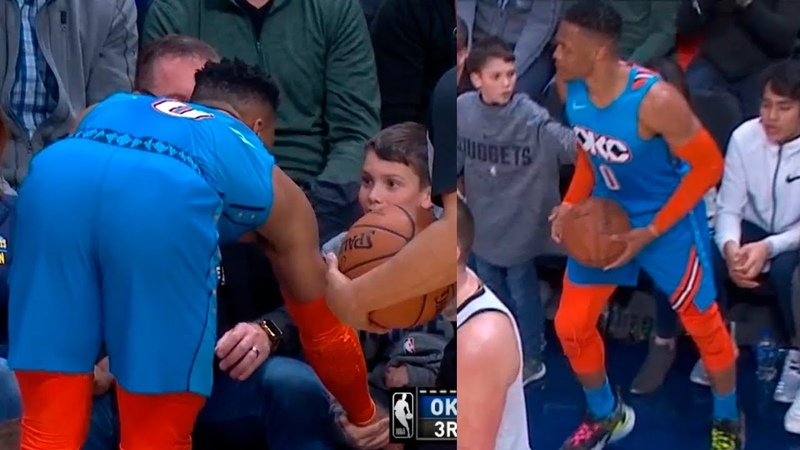 Russell Westbrook shows entire world that he is more than an athlete after a kid shove him