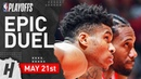 Kawhi Leonard vs Giannis Antetokounmpo Game 4 Duel Highlights 2019 NBA Playoffs ECF - TOO GOOD!