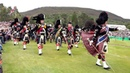 The Queen Royal Family attend the 2018 Braemar Gathering with massed pipes drums display