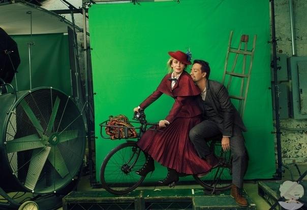 Emily Blunt and Lin-Manuel Miranda