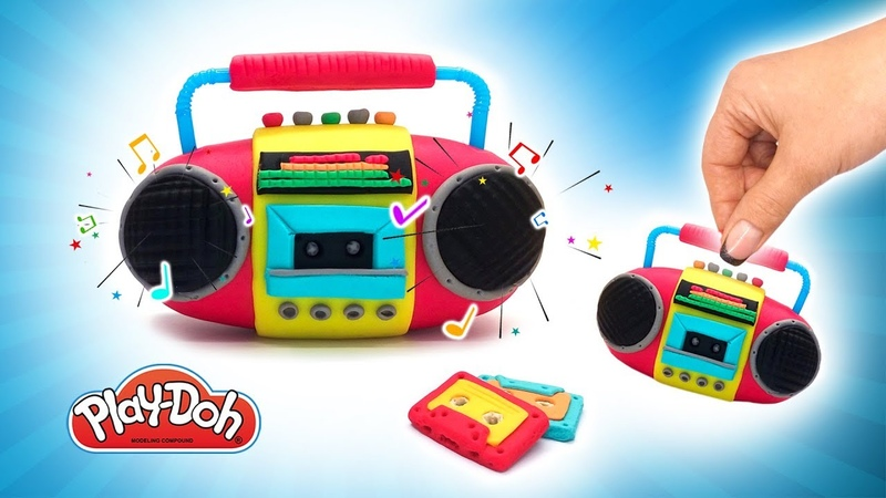 Play Doh Toys. DIY Boombox out of Playdough Clay with Supplies. Learn Color. Funny Tutorial for KIds