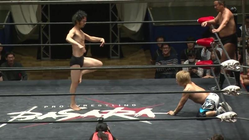 Ikuto Hidaka, Minoru Fujita vs. Trans-Am Hiroshi, Osamu Nishimura (BASARA - Vajra 78 ~ Luyang no Hoko)