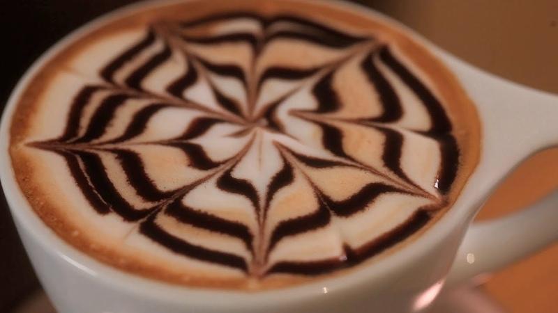 How to Etch Spirals Latte Art