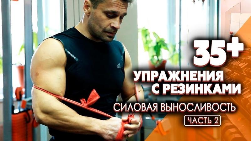 ТРЕНИРОВКА В ДОМАШНИХ УСЛОВИЯХ Упражнения с резинками на все группы мужское здоровье
