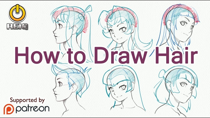 How To Draw Anime Hair, From Construction to Styles