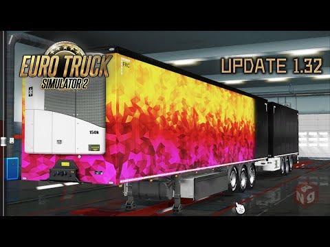🔴Euro Truck Simulator 2 Смотрим обновление 1 32 Личные прицепы и перерисованная Германия