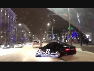 Дрифтеры хулиганят на дороге - 8.01.19 - Это Ростов-на-Дону!