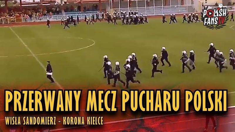 Przerwany mecz Pucharu Polski Wisła Sandomierz Korona Kielce LQ 03 10 2018 r