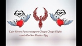 Kain Rivers Chupa Chups Flight Fan to support contribution Easter Egg