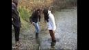 Girls Julia Svetlana and Nastia walking in rubber boots 07 10 15
