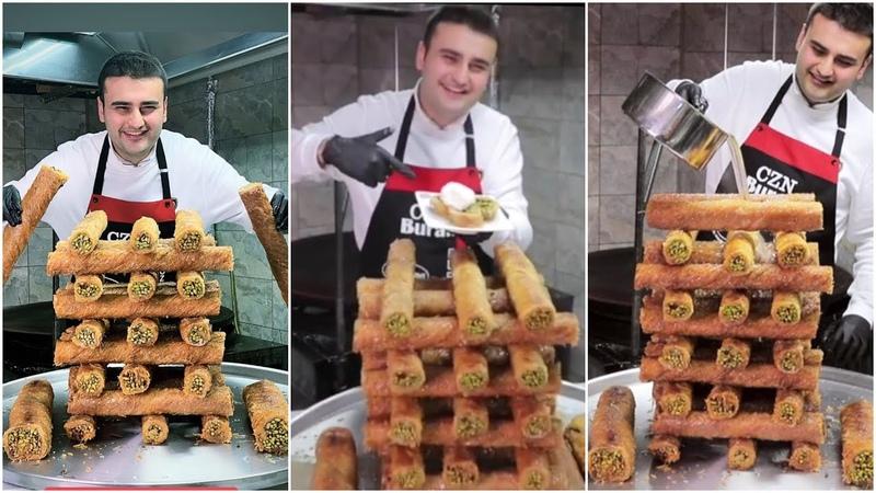 Вкусные десерты (пахлава, блины с начинкой)   Бурак Оздемира (Burak Özdemir), czn Burak! Турецкая еда, кухня (Turkish Food).