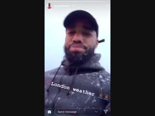 Laca's London weather report