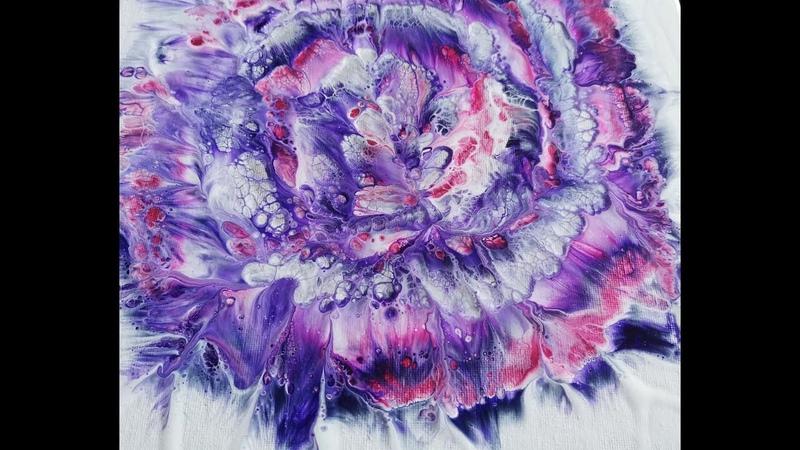 126 Purple love Spiral flower dip on 12x12 inch canvas