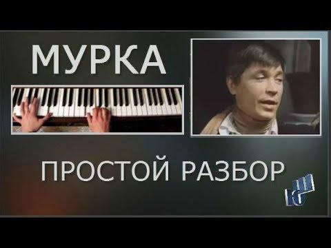 Мурка простой разбор на пианино без нот двумя руками Аккорды мелодия