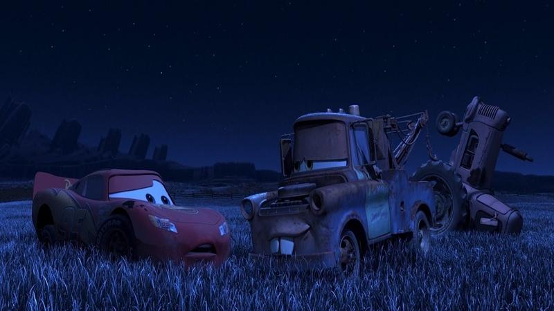 Молния Маквин и Мэтр пугают трактора. Тачки (2006)